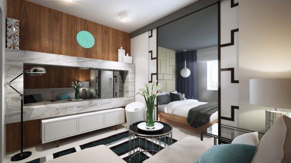 Проект гостиной-спальни