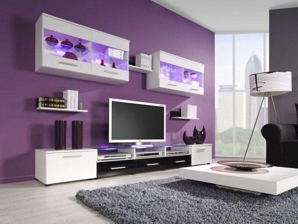 Мебель с подсветкой в гостиную
