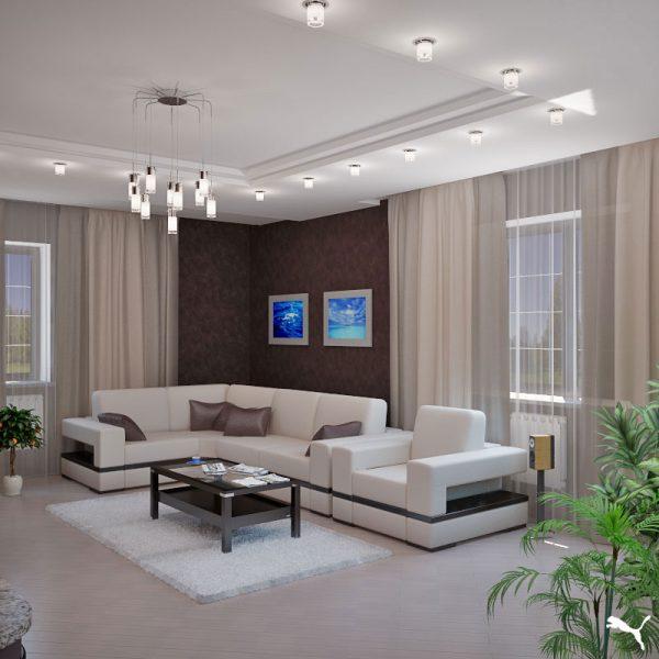 Проект дизайна гостиной
