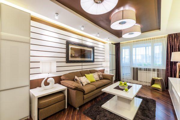 Совмещение спальни и гостиной - дизайн интерьера