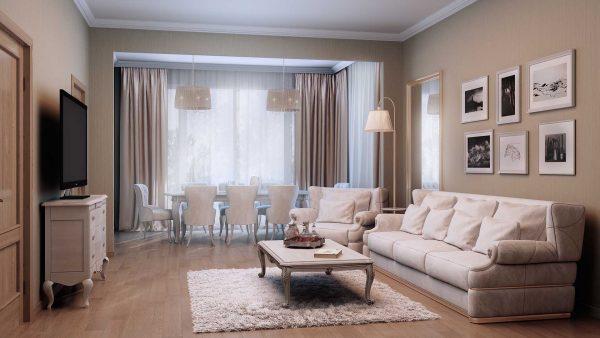 Дизайн гостиной в ретро-стиле