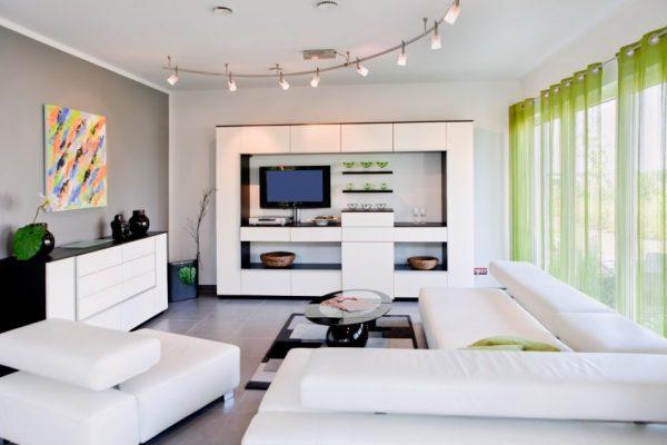 Глянцевые фасады мебели в стиле хай тек