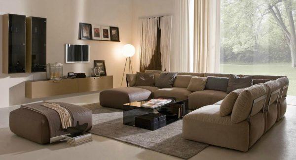 Дизайн мягкой мебели для гостиной
