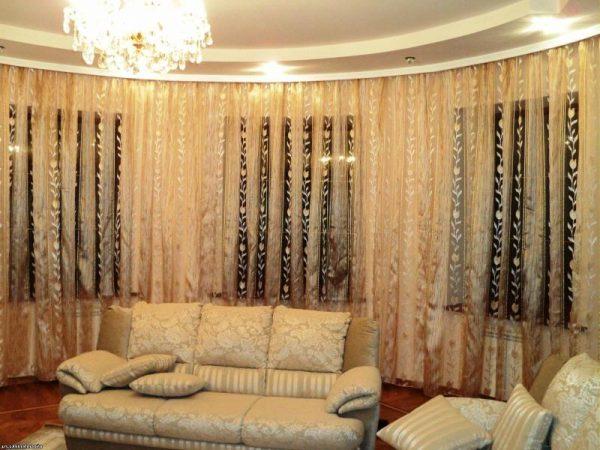 Тюлевые шторы для гостиной