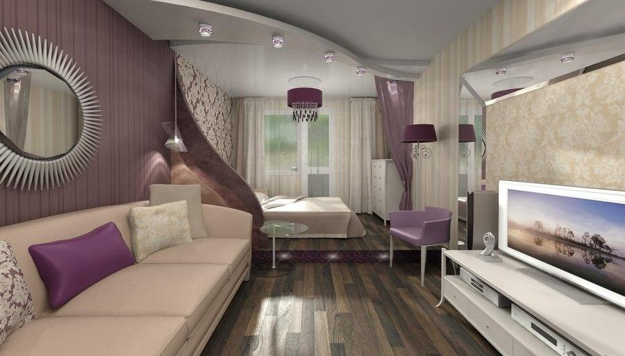 дизайн комнаты 18 кв м спальни гостиной 50 фото