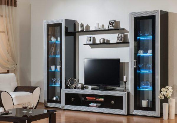 Использование элементов из стекла в модульной мебели