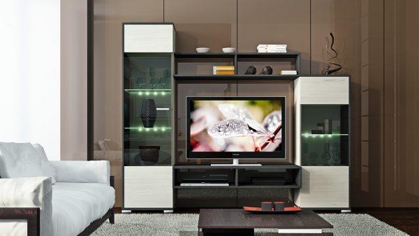 Стеклянные элементы в модульной мебели