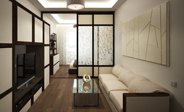 Гостиная-спальня 18 квадратов