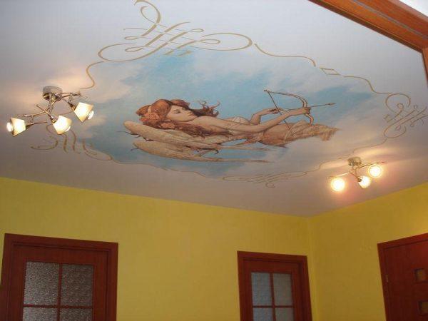 Использование мифологических мотивов на натяжном потолке