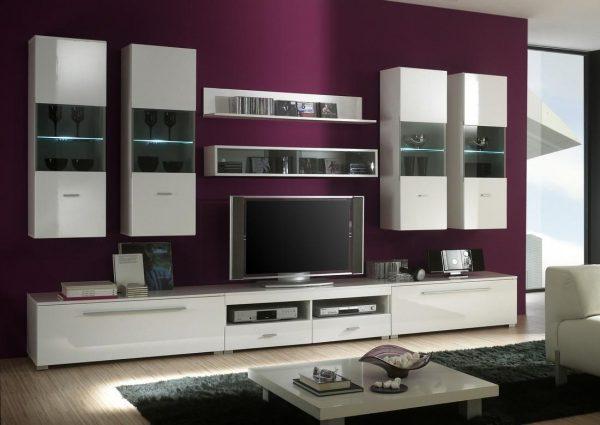 Современные модульные стенки в гостиную