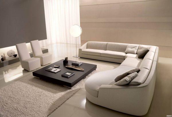 Мягкая модульная мебель в стиле минимализм