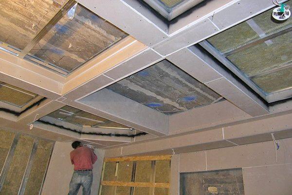 Кессонные потолки: принцип составления из гипсокартона