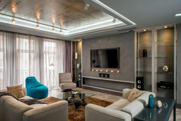 Дизайн интерьера гостиной в экостиле
