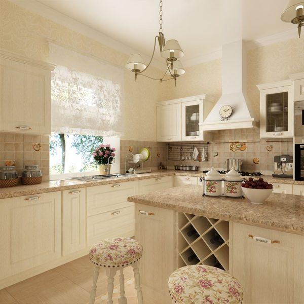Мебель для гостиной кухни в стиле прованс