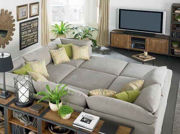 Модульная мягкая мебель для гостиной в экостиле