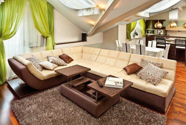 Использования дивана, как границы при разделении пространства