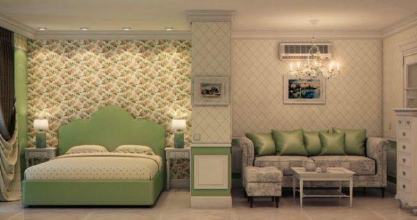 Стиль романтизм: гостиная и спальня