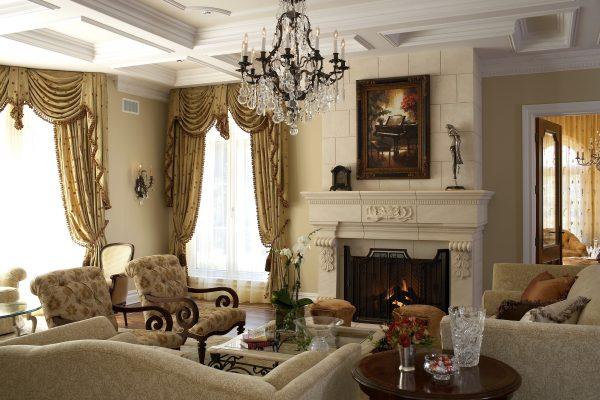 Убранство гостиной в стиле классика