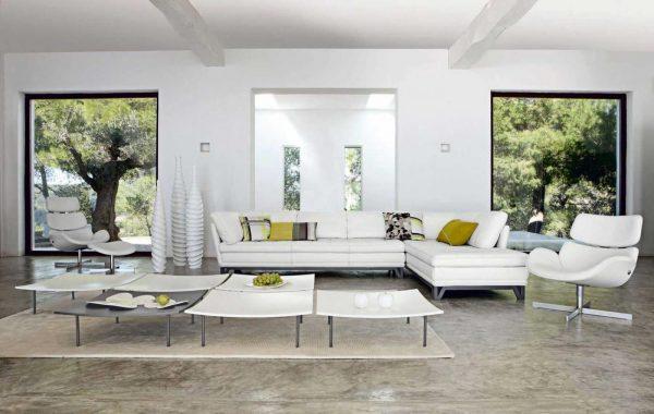 Мебель для гостиной в стиле техно