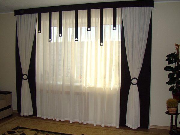 Дизайн штор в современную гостиную