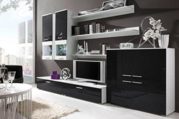 Глянцевая мебель в гостиную