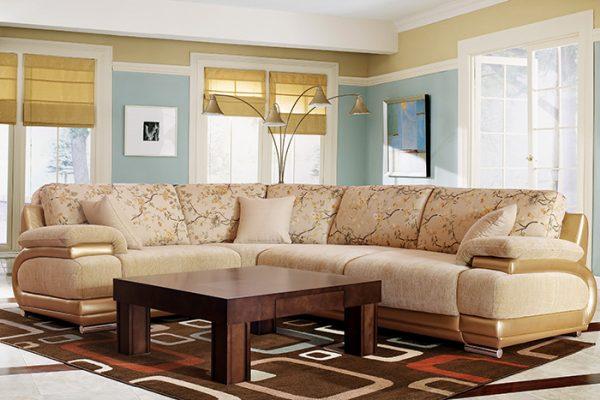 Современная мягкая мебель в гостиную