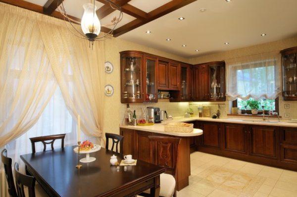 Зонирование освещением кухни гостиной