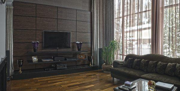 Стеновые панели в оформлении гостиной