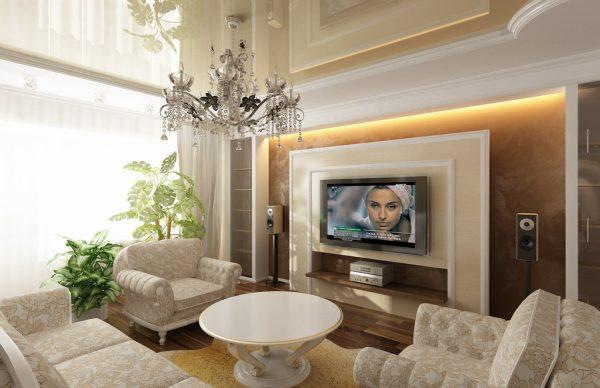 Классический дизайн гостиной в квартире