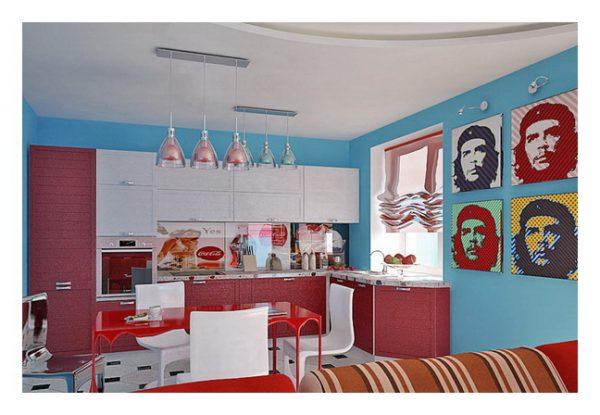 Яркая кухня в стиле поп арт