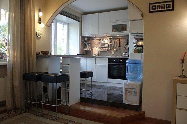 Дизайн современной кухни гостиной