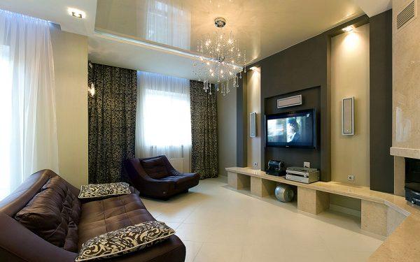 Квартира с красивым дизайном гостиной