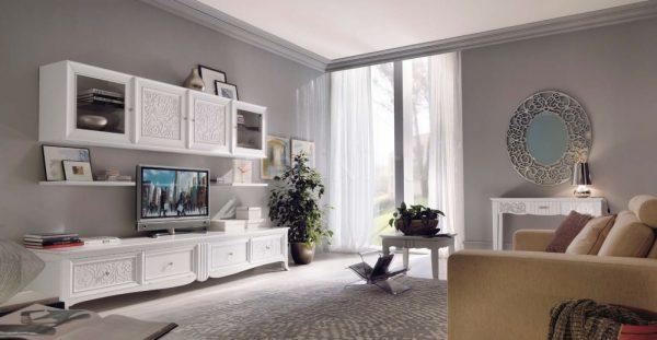 Интерьер современной гостиной с модульной мебелью