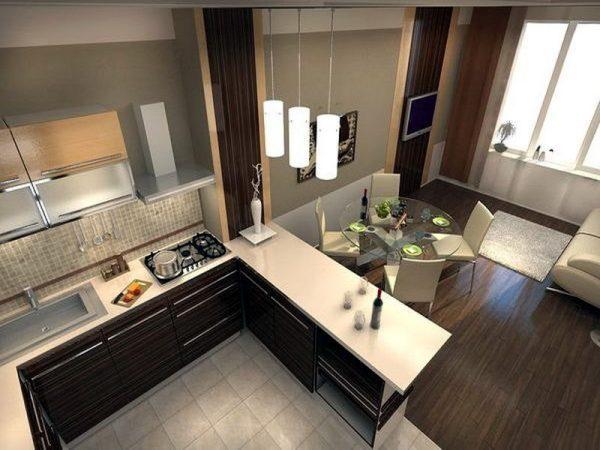 Напольное покрытие для кухни гостиной