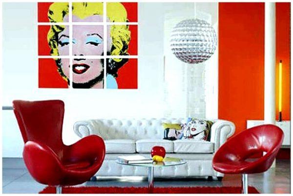 Картины в интерьере в стиле поп арт