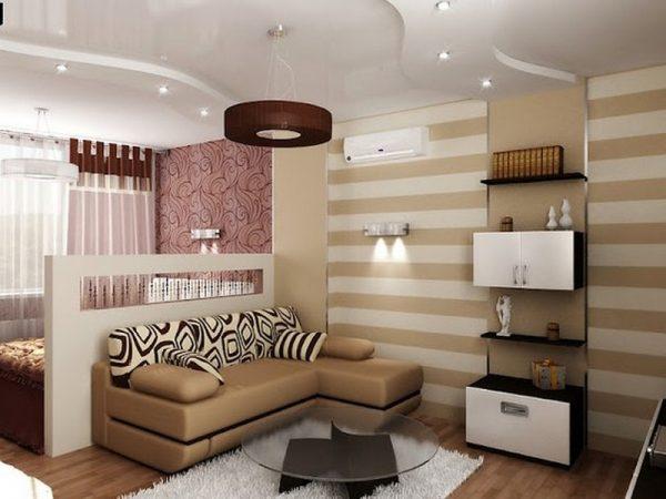 Функциональная мебель для современной гостиной спальни