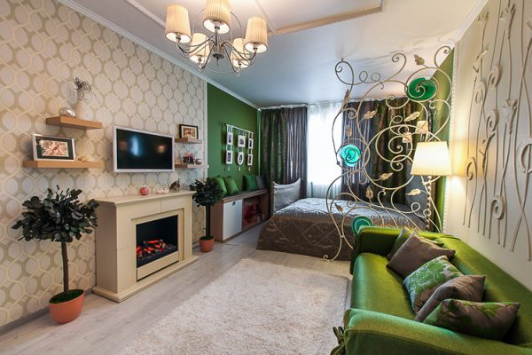 Зонирование однокомнатных квартир