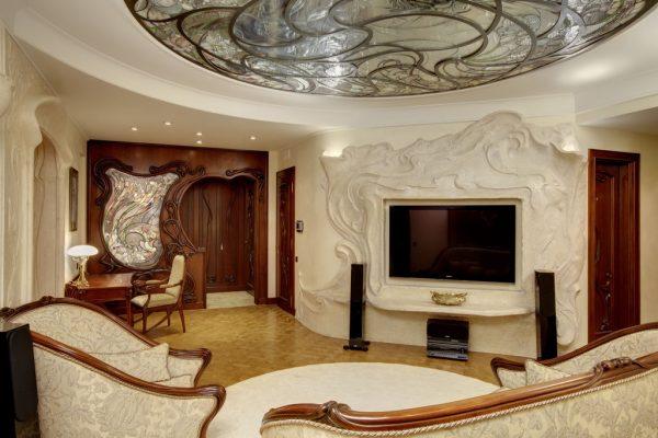 Роскошная гостиная в стиле модерн