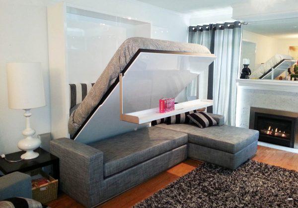 Мебель трансформер для маленькой гостиной спальни