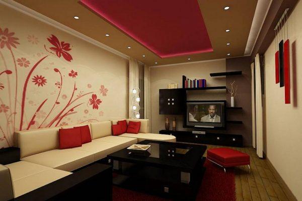 Стильный дизайн гостиной