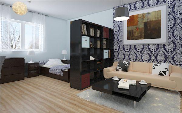 Организация пространства в гостиной спальне