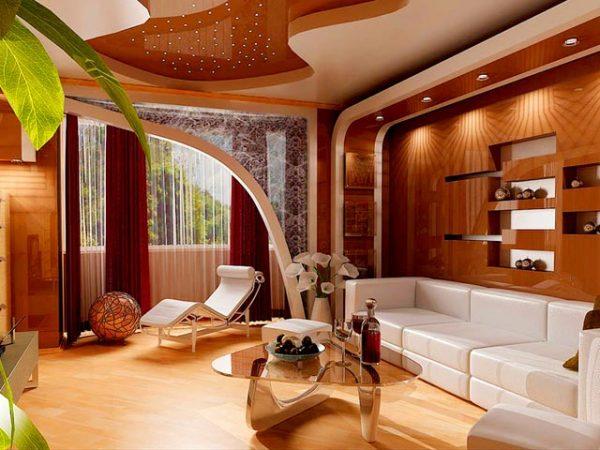 Стильная и необычная гостиная