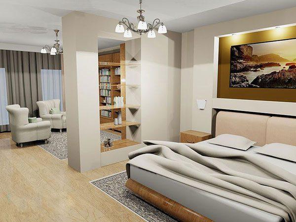 Интерьер совмещенной комнаты