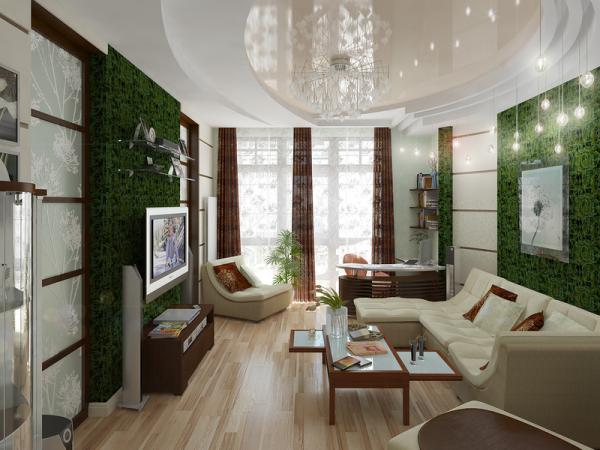 Идея для оформления современного интерьера гостиной